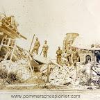 German soldiers visiting bombed Zeebrugge