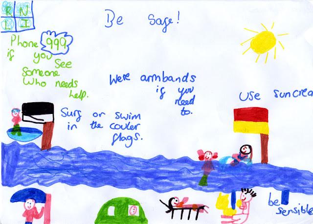 Sea safety poster - Sophia