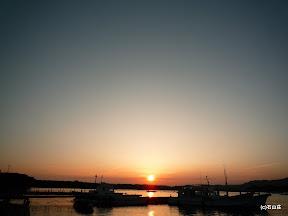 2009/9/5の夕日です。霞みゆく夕日でした。
