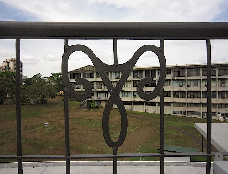 Aries symbol on the rail of the Manila Observatory's roof deck