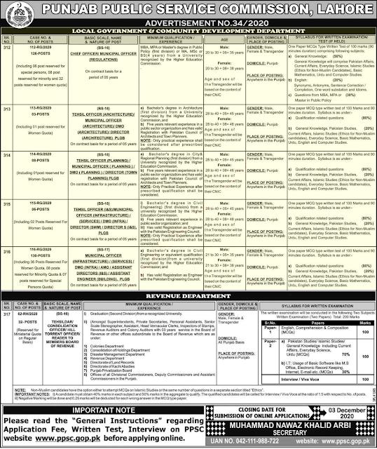 PPSC Jobs Advertisement