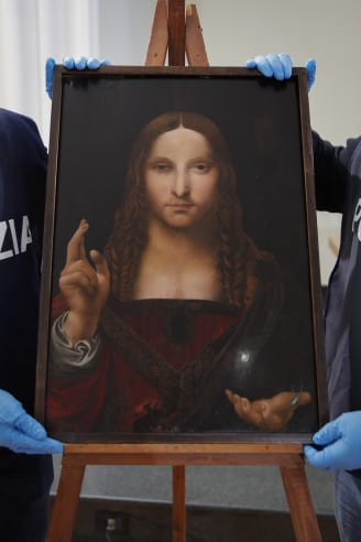 Police recover 500-year-old stolen copy of Leonardo da Vinci's 'Salvator Mundi', the world's most expensive painting (photos