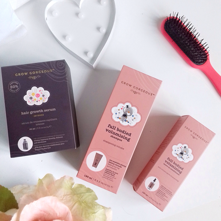 grow gorgeaous haircare range review