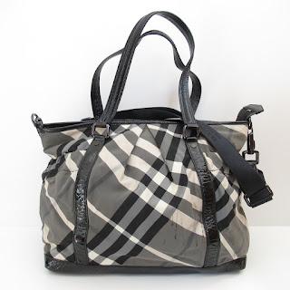 Burberry Tartan Tote Bag