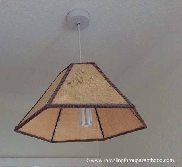 The current ceiling lamp is in dire need of an update