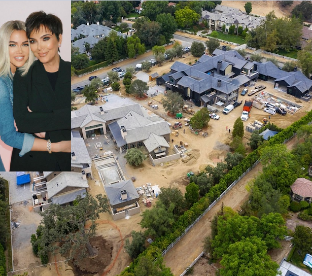 Khloe Kardashian and mum Kris Jenner building mansions side by side that will make them neighbours (photos)