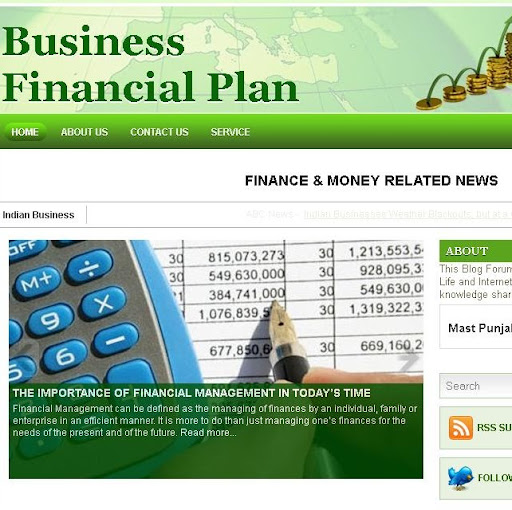 Business Financial Plan Blogger Site by Busy Boy