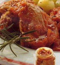 Conejo en Salsa de Tomate