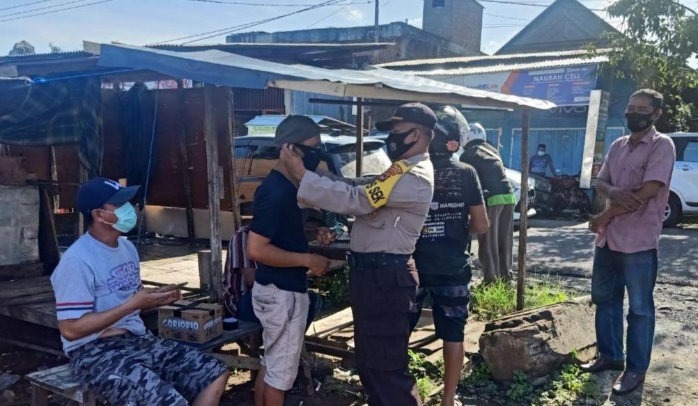 Kapolsek Marioriawa Pimpin Ops Yustisi Pendisiplinan AKB di Pasar Laringgi