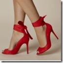 Karen Millen Red Suede Ankle Strap Heels