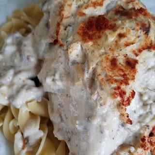 Creamy Chicken and Mushroom Bake.