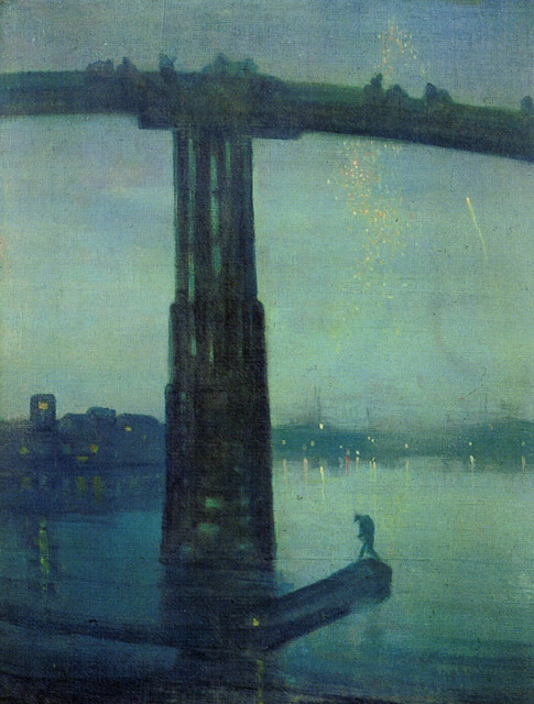 James Abbott McNeill Whistler - Nocturne in Blue and Gold - Old Battersea Bridge