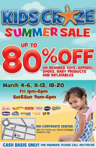 announcement, shopping, children products, sale alert