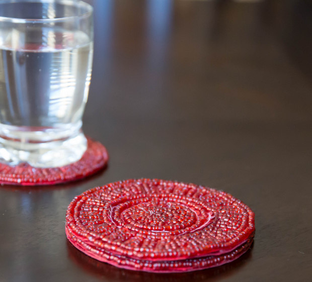 photo of red coasters