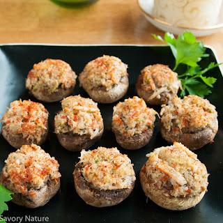 Crab-Stuffed Mushrooms.