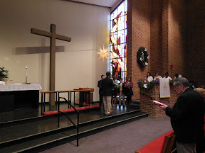 Lighting the Advent Wreath on the first Sunday of Advent