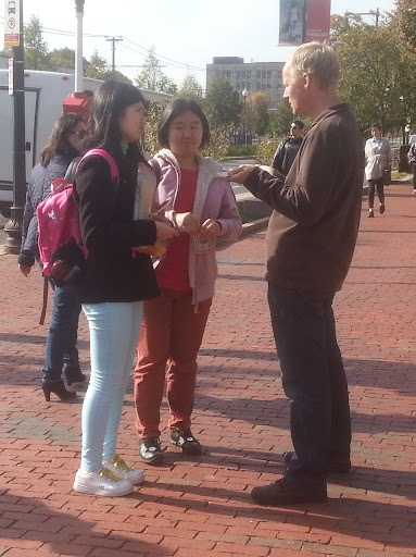 Chris got to share the gospel with two students from China who had never heard the message before.