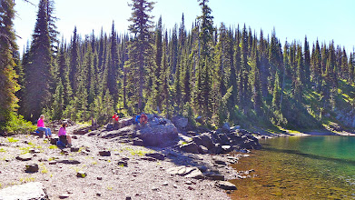 Photo: Lunch at Pyramid Lake in the Bob Marshall Wilderness