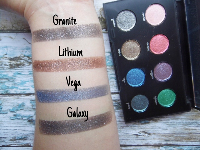 Urban Decay Moondust swatches review