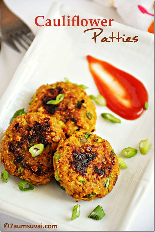 Cauliflower patties / Cauliflower cutlet