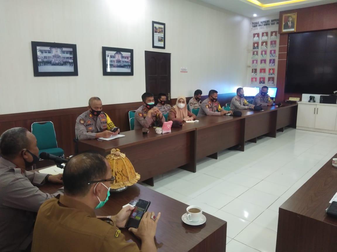 Wakapolres Soppeng Pimpin Rakor Bersama Instansi lain jelang Tahun Baru 2021