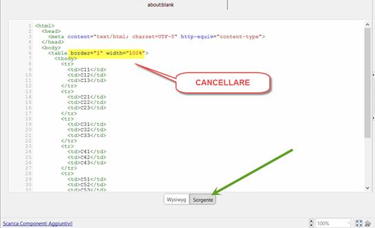 html-tabella