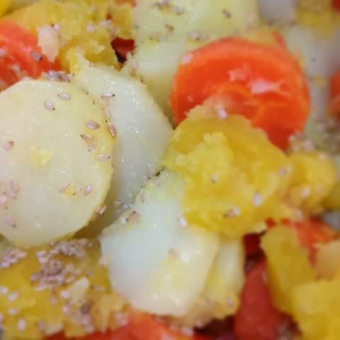 Legumes cozidos no vapor