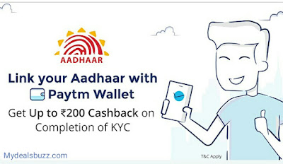 link aadhaar number with paytm account