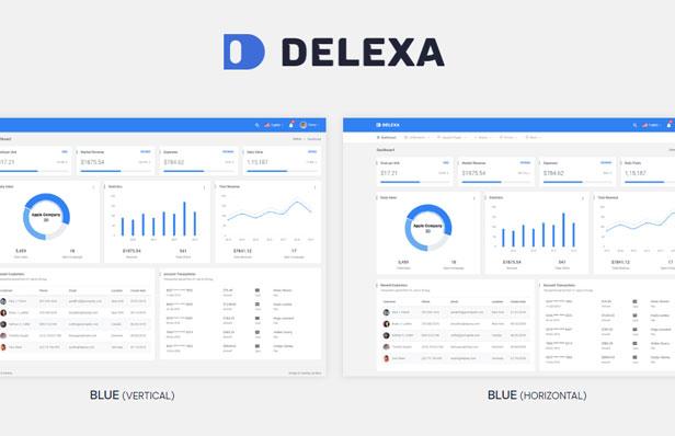 Delexa - Material Admin & Dashboard Template - 1