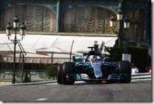 Lewis Hamilton nelle prove libere del gran premio di Monaco 2017