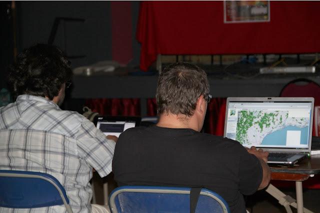 Mapa lliure (OpenStreetMap) a l'ordinador del Ferr&agrave;n L., la sala disposava de connexi&oacute; a internet. <b>Autora: Gemma Castillo</b>