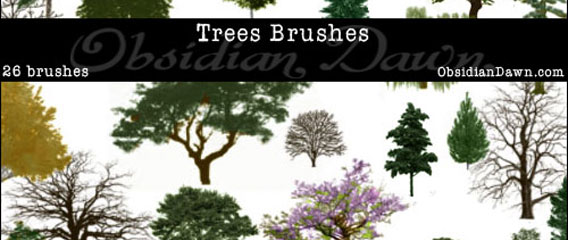 26 Free Photoshop Trees Brushes Set Download