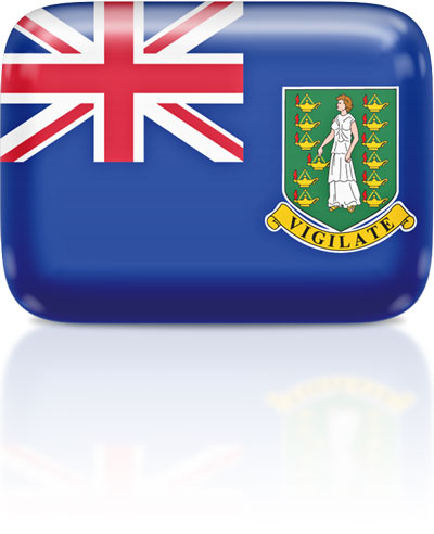 British Virgin Island  flag clipart rectangular
