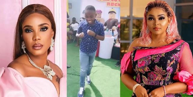 Iyabo Ojo and Foluke Daramola react as Mercy Aigbe's son shows off his dancing skills (video)