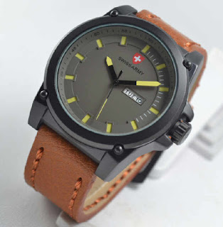 Swiss Army date day brown