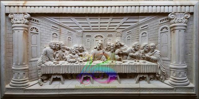Relief perjamuan kudus atau perjamuan terakhir