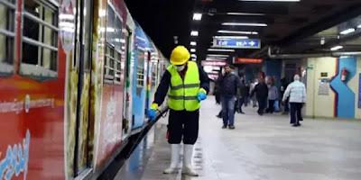 في حالة عدم ارتداء الماسك | غرامة فورية في محطات المترو خلي بالك