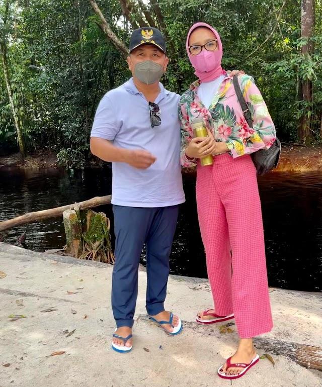 Bersama Istri ke Objek Wisata Danum Bahandang, Gubernur Sampaikan Ini