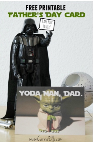 star wars fathers day cards