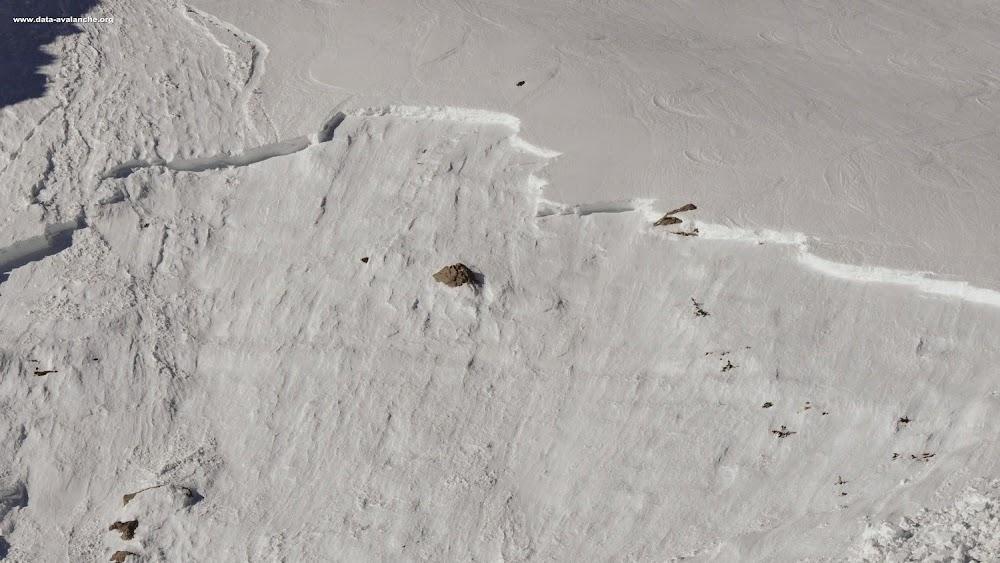 Avalanche Mont Thabor, secteur Petit Argentier, Au dessus du Pas du roc - Photo 1