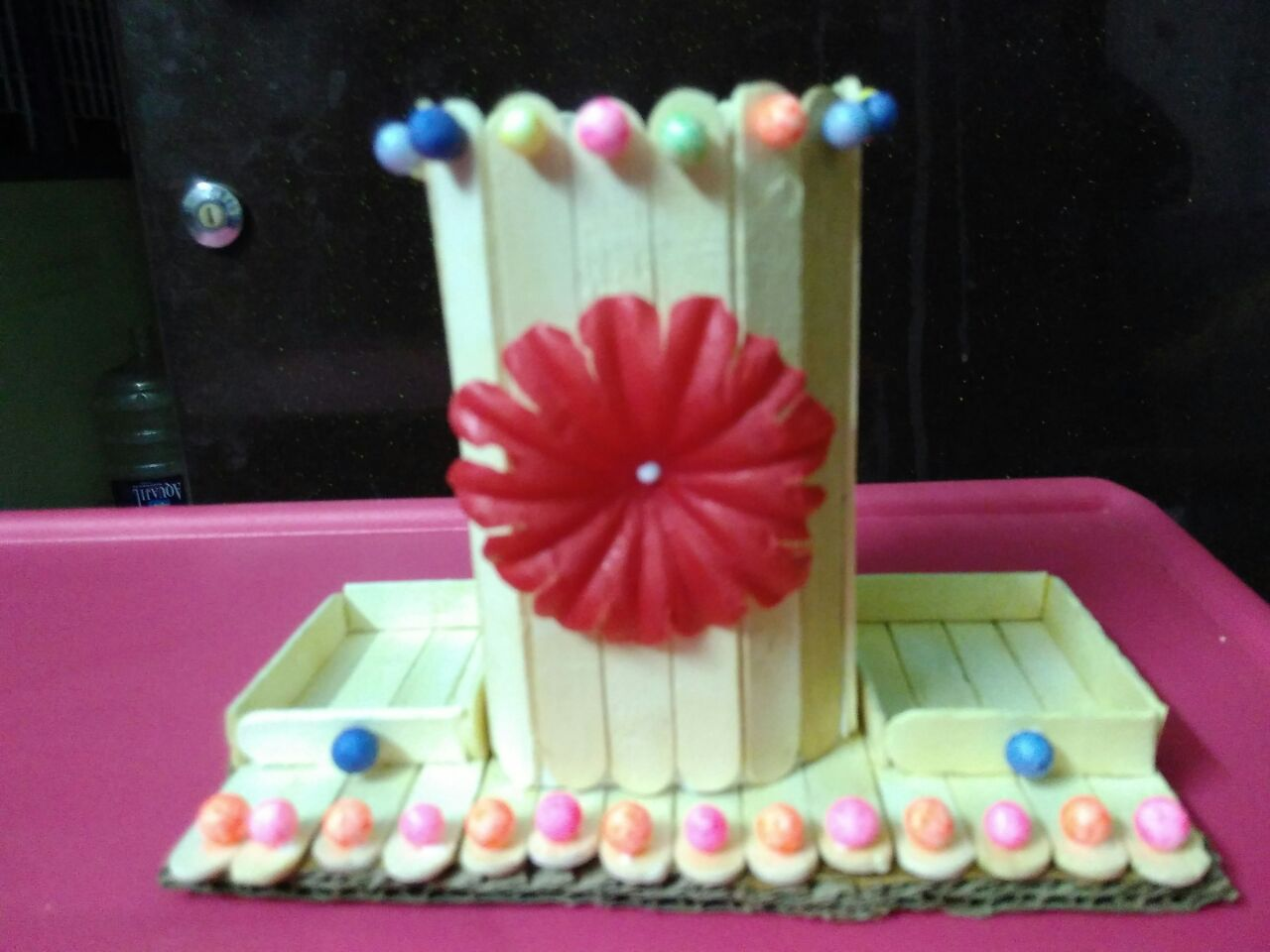 Made from popsicle youtube arts and pen stand with icecream arts wood craft  sticks ideas and