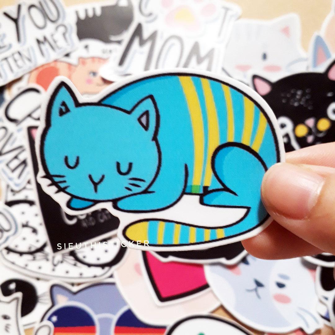 miếng dán mèo lười