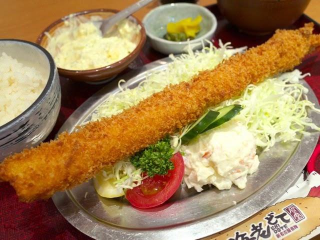 35センチ特大海老フライ定食