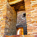 Original juniper from centuries' past still holds the buildings together - Chaco Canyon, New Mexico