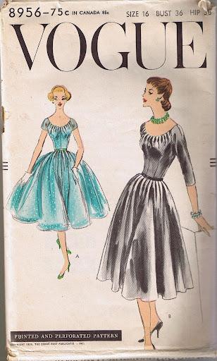 Vogue 8956 (Vintage, 1956).  Sewn in floral silk pique April/May 2010.