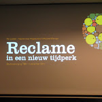 Foto's van de lezing, verzorgd door Dhr. Rik Ledder, over Reclame in een nieuw tijdperk.