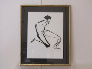 "Ann Hawley's ""Bullfighter"" Drawing"