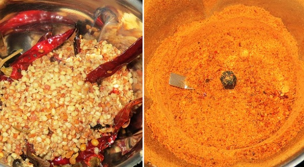 Milagai Podi Recipe | South Indian Molaga Podi (Lentil Chilli Powder / Idli Chutney Powder) | Foodomania.com