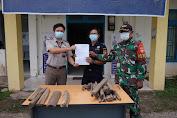 Sinergitas Apik ! Patroli Gabungan Pamtas Gagalkan Penyelundupan 16 Kg Gaharu