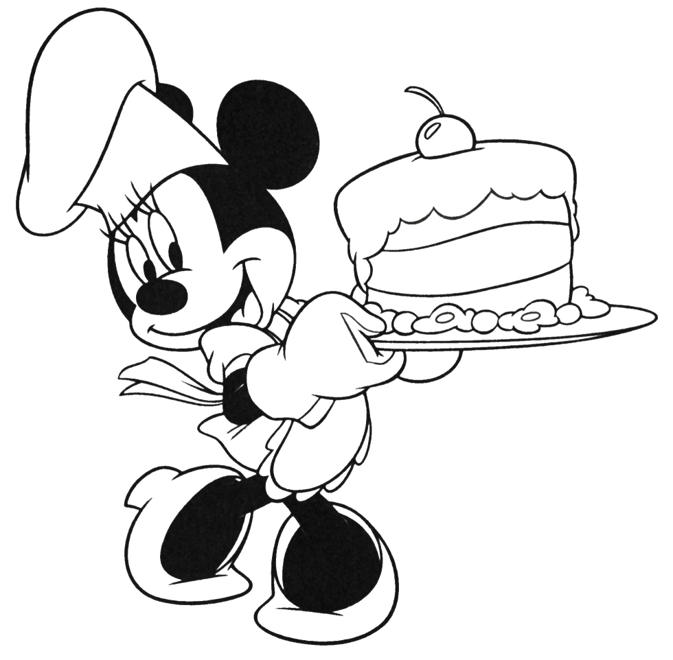 Top Minnie Mouse Baby Coloring Pages Image